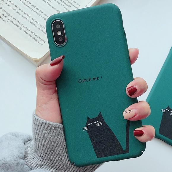 Cute Cat iPhone X Case Phone Hard Case